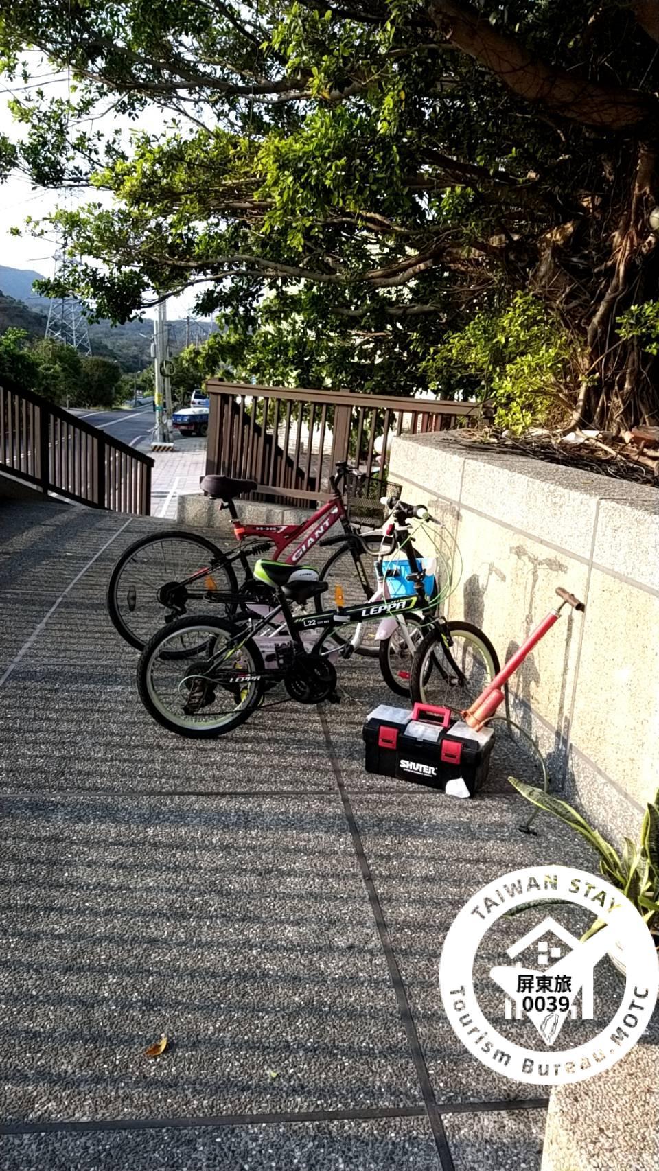腳踏車停車位以及洗車的地方