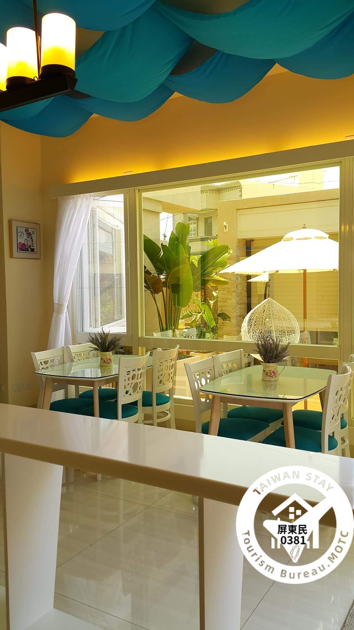 民宿高雅的咖啡廳、可讓遊客朋友歇歇腳、品嚐一杯香純咖啡、盡情享用女主人精心料理的美食,滿足您豐富的味蕾。